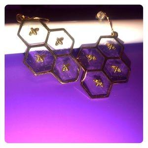 Bee & hive earrings